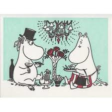 Greeting Card Moominmamma And Moominpappa - .