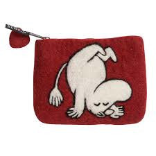 Moomin Up And Down Deep Red Purse