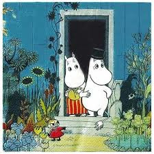 Moomin Paper Napkin At The Doorstep - .
