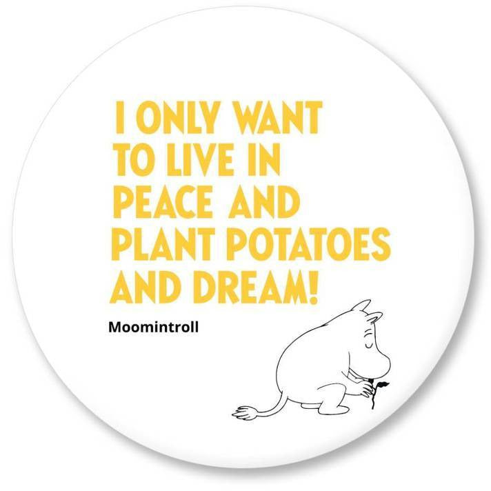Moomin Fridge Magnet Plant Potatoes