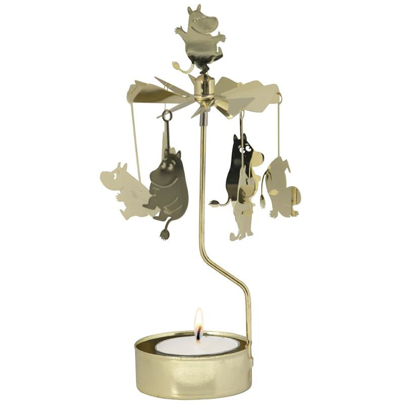 Rotary Candle Holder Moomin Gold
