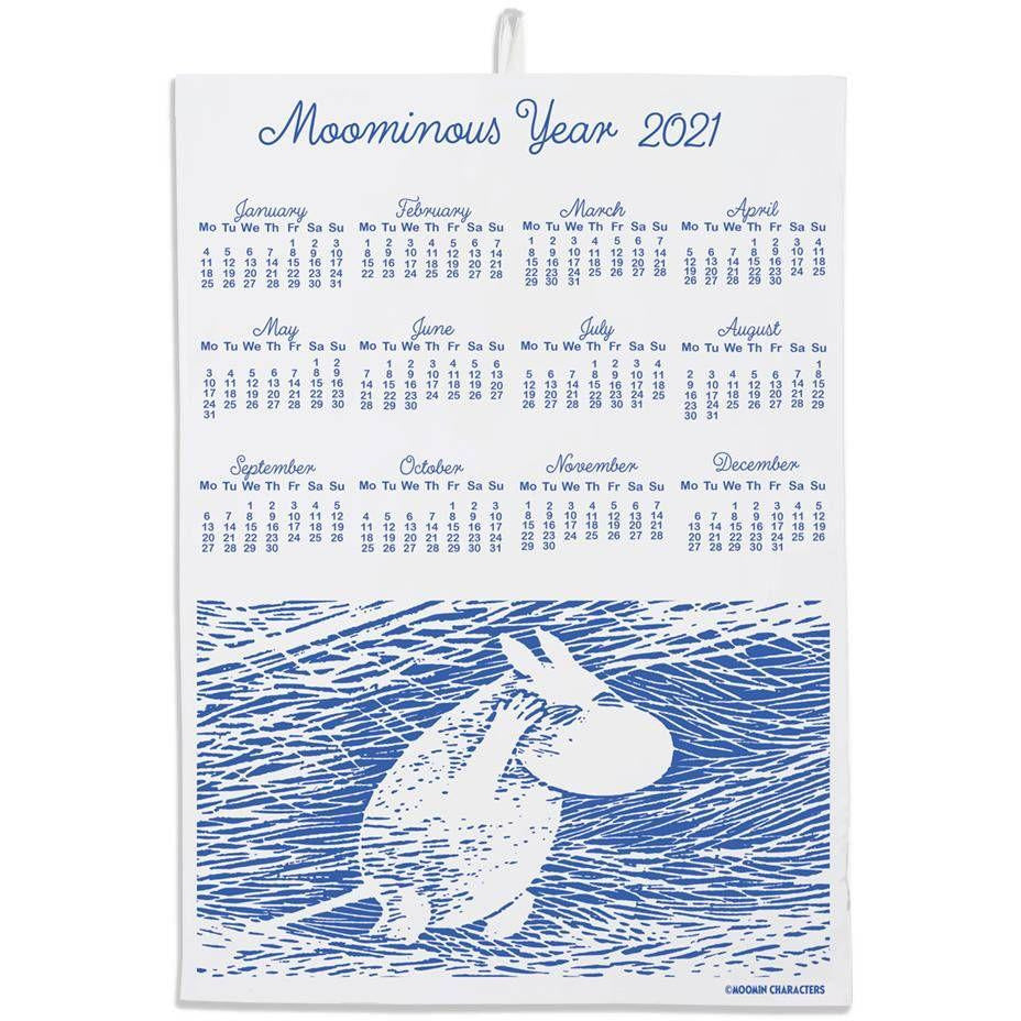 Calendar Kitchen Towel Snow Blizzard