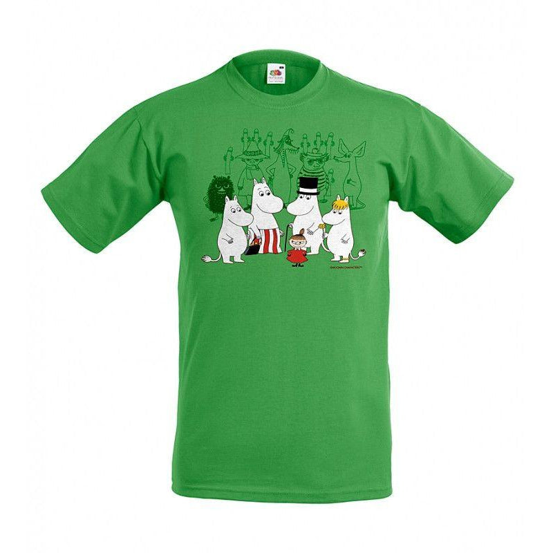 Moomin T-Shirt kids Residents Green - .