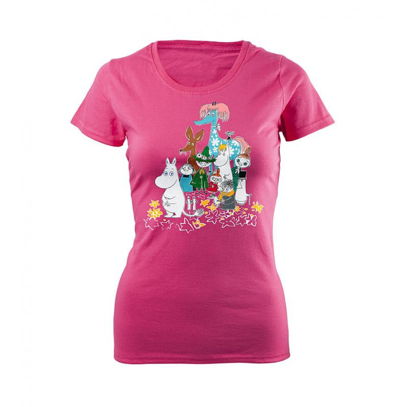 Moomin T-Shirt Ladies Moomins And Primadonnas Horse Fuchsia