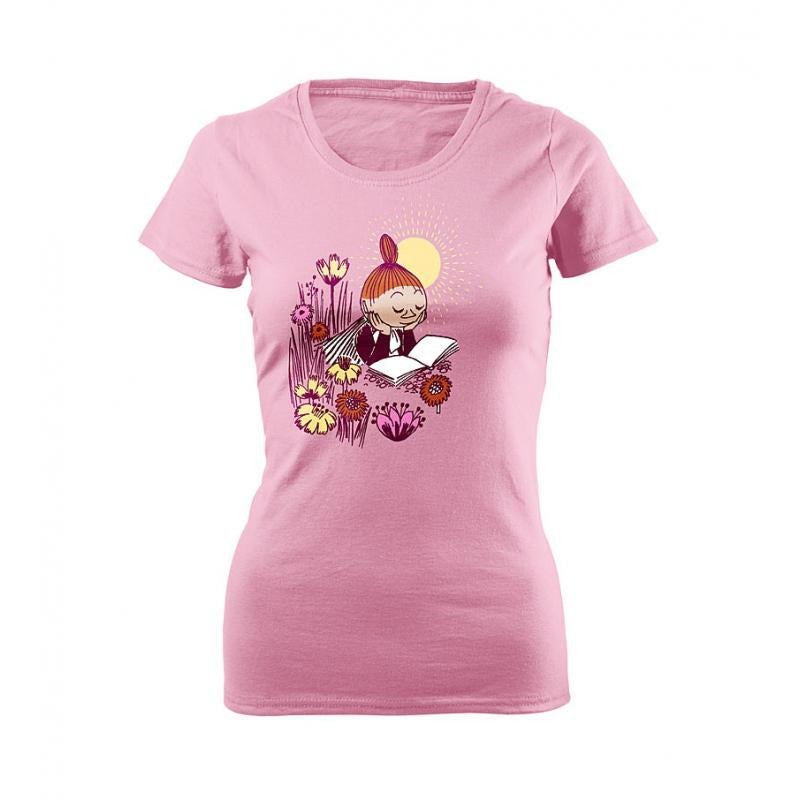 Moomin T-Shirt Ladies Mymble Writes Pink