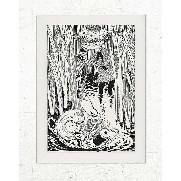 Poster Snufkin Fishing and Little My In Basket large - .