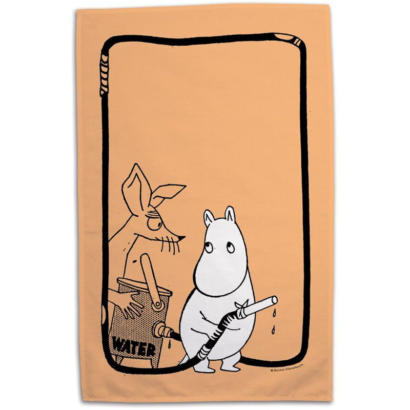 Tea Towel Firefighters Orange - .