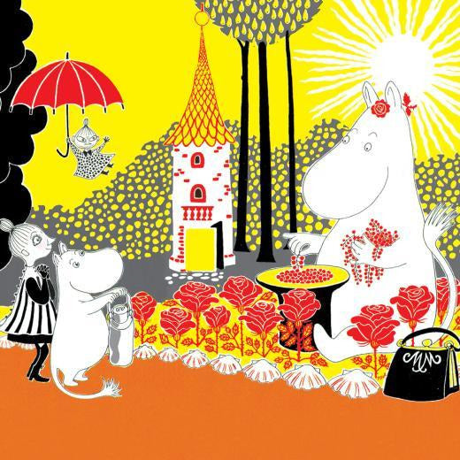 Greeting Card Square Moominmamma Collecting Berries - .