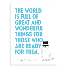 Greeting Card The World Is Full Of Great - .