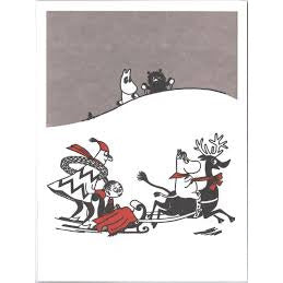 Greeting Card Sleigh Ride - .