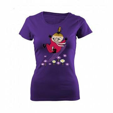 Moomin T-Shirt ladies Little My Sliding Purple