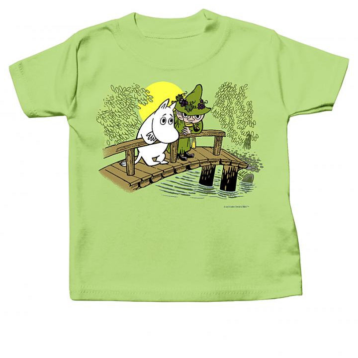 Moomin Baby T-Shirt Moomin and Snufkin On The Bridge