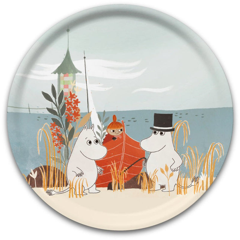 Moomin Tray Boat On Beach Our Sea Round 32 cm - .