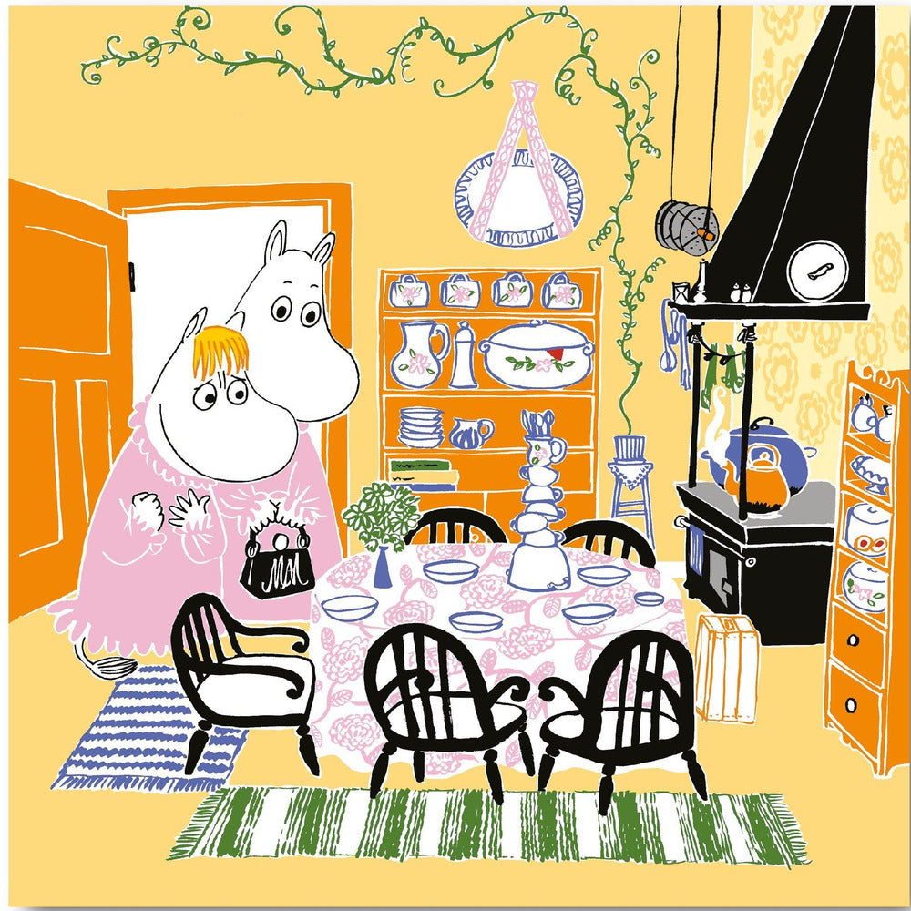 Moomin Paper Napkin Kitchen Yellow - .