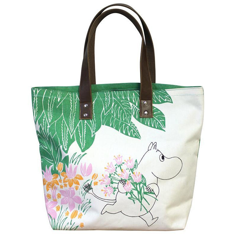 Shopping Bag Floral Green - .