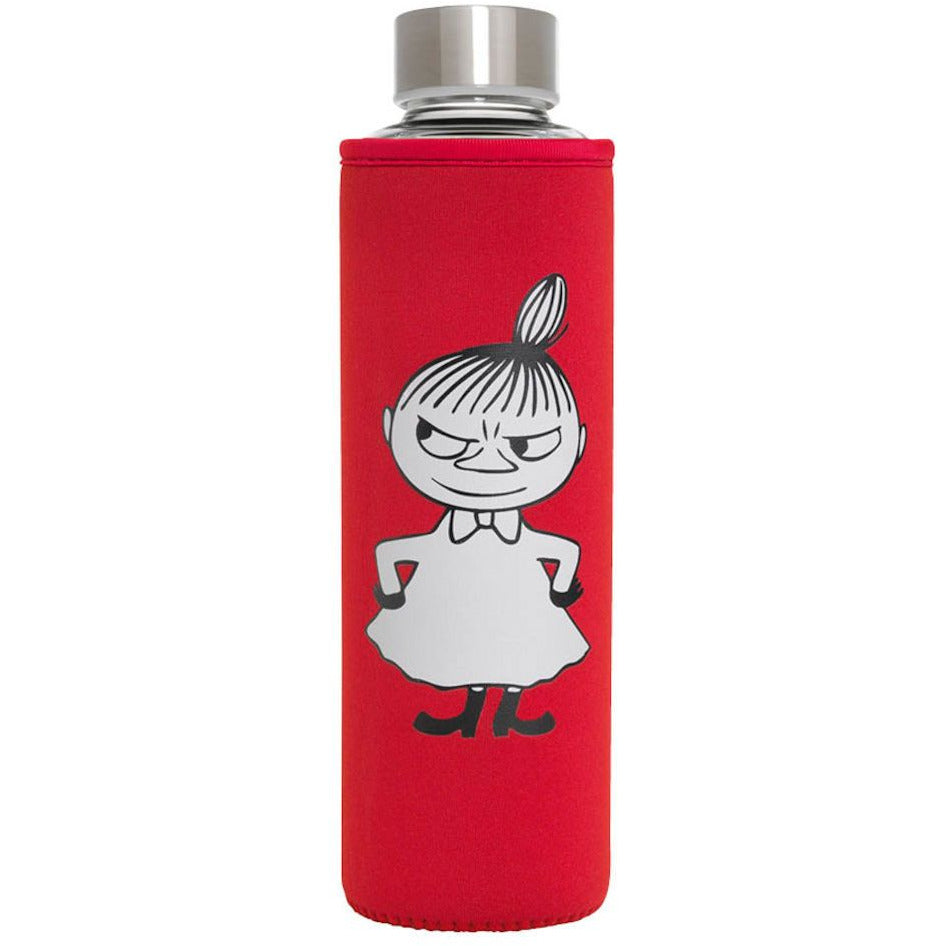 Glass Water Bottle Little My Red - .