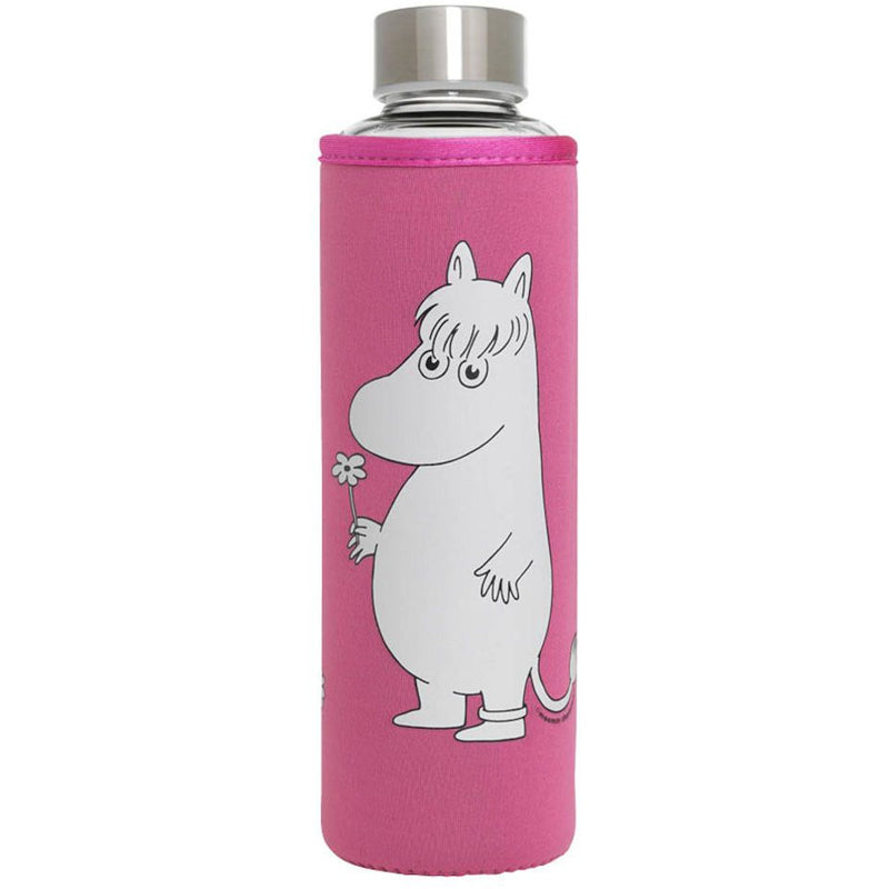 Glass Water Bottle Snorkmaiden Pink - .