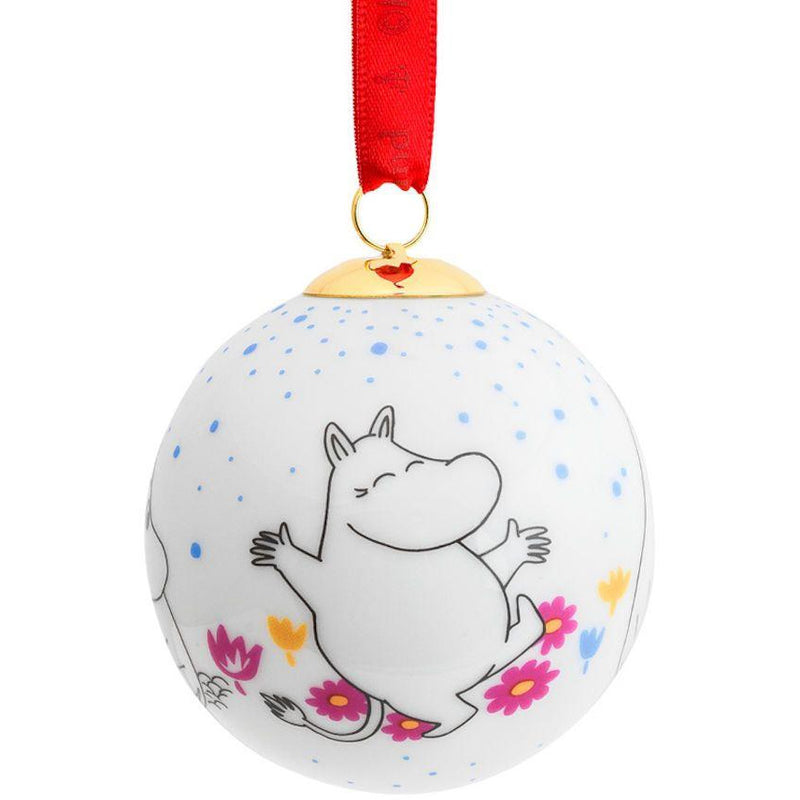 Porcelain Christmas Bauble Moomintroll - .