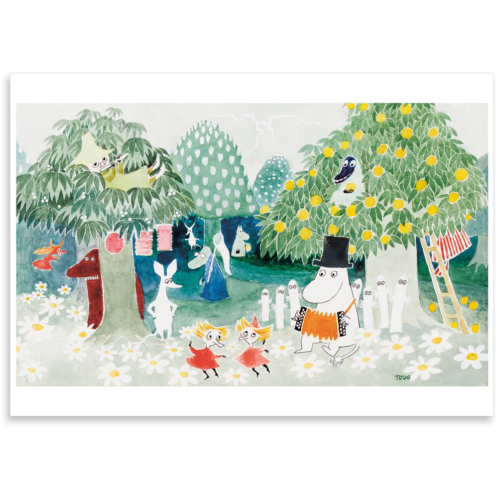 Greeting Card Finn Family Moomintroll - .