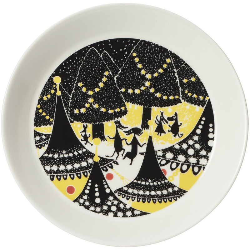 Moomin Collector plate 2-Pack Yellow and Hurray