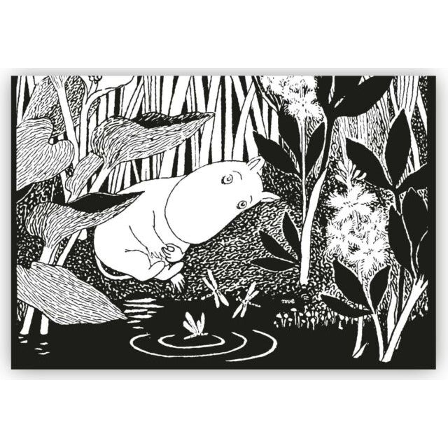 Moomin Placemat Dreaming Moomin Black And White