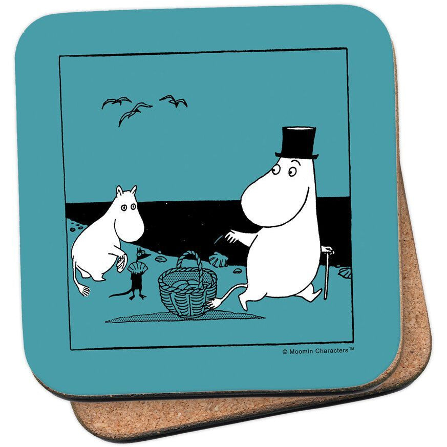 Coaster Moomintroll And Moominpappa on The Beach - .