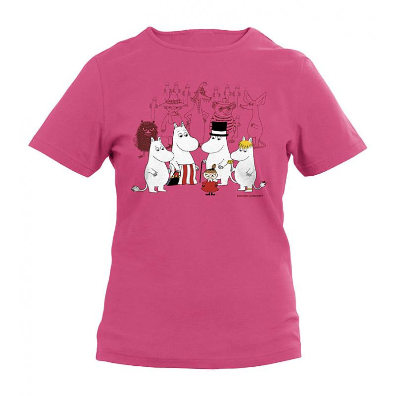 Moomin T-Shirt kids Residents Pink - .
