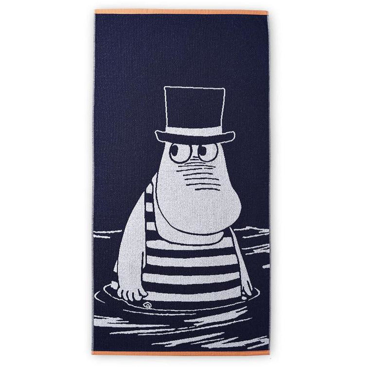 Bath Towel Moominpappa In Swimsuit Navy Blue - .