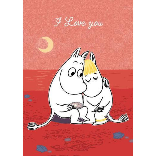 Greeting Card I Love You Red - .