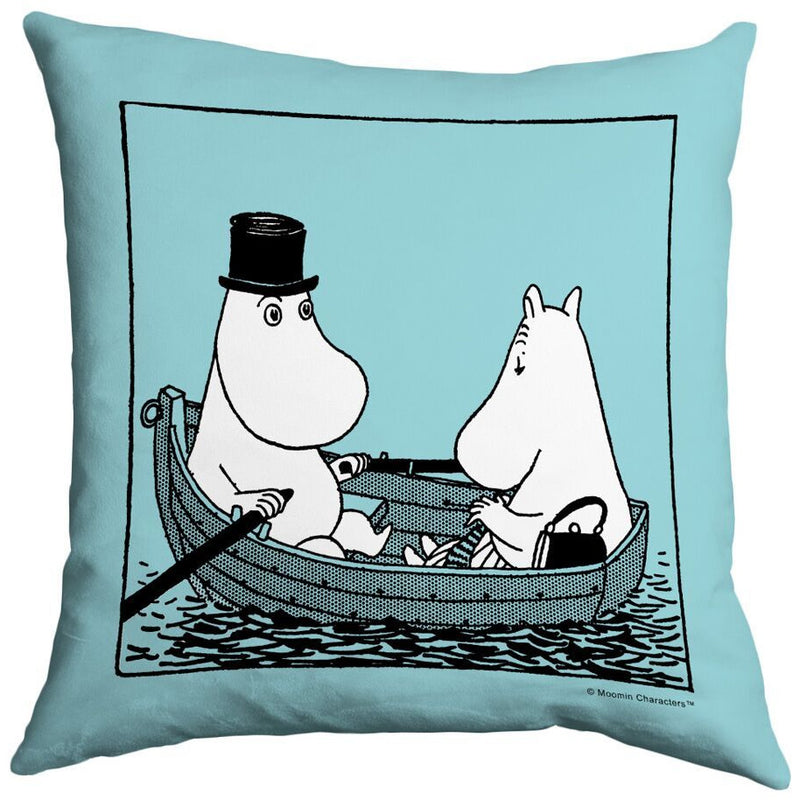 Cushion Moominmamma And Moominpappa In A Boat Turquoise - .