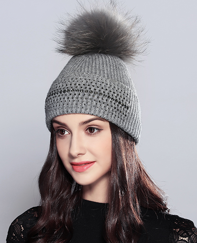 Vogue Raccoon Fur Beanie