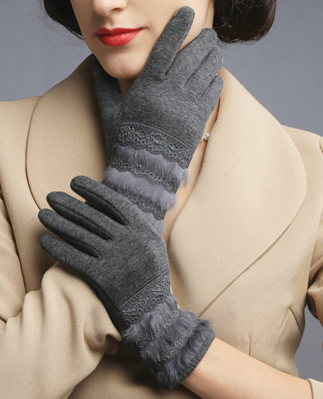 Vintage thermal Cotton gloves