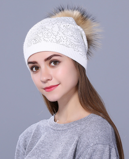 Rhinestone Winter hat