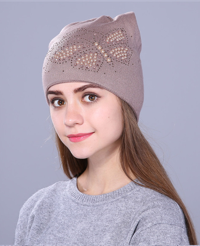 Luxury knitted Butterfly beanie