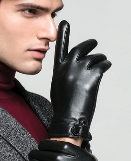Velvet Goatskin Leather Glove