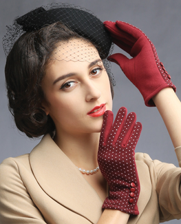 Houndstooth thermal Cotton Glove