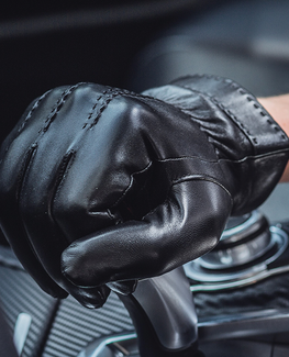 Trendy Genuine Leather Gloves