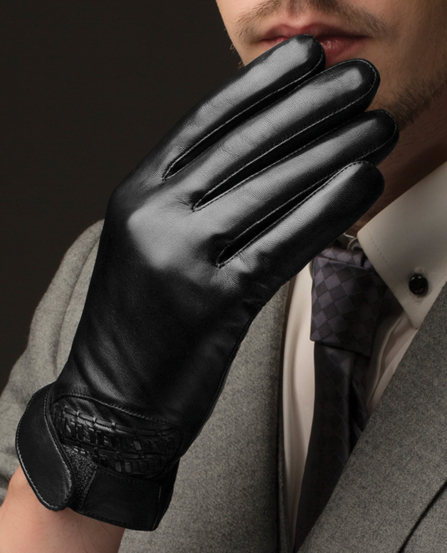 Genuine Leather Bikers Gloves