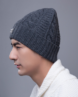 Elastic Knitted Winter Bonnet
