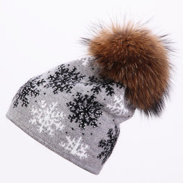 Real mink knitted Beanie