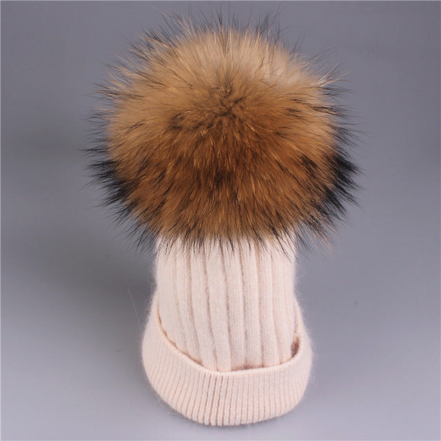 Premium mink fur Winter hat