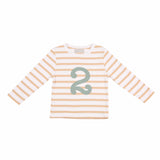 Biscuit & White Breton Number 2 T Shirt