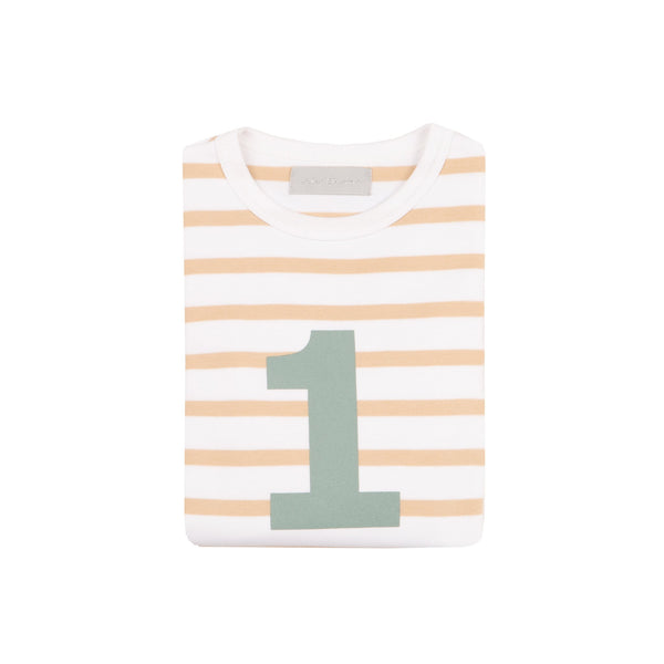 Biscuit & White Breton Number 1 T Shirt
