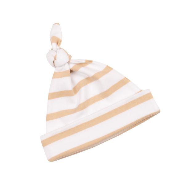 Biscuit and White Breton Striped Hat