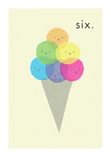 Greeting Card - SIX