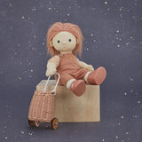 Rattan Doll Luggy - Rose