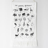 Animal Alphabet Printed Wall Tapestry