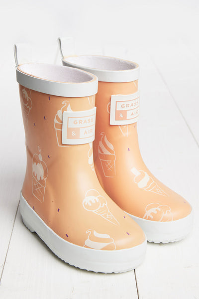 Colour Revealing Wellies - Sherbet Orange (sizes UK4 - UK7)