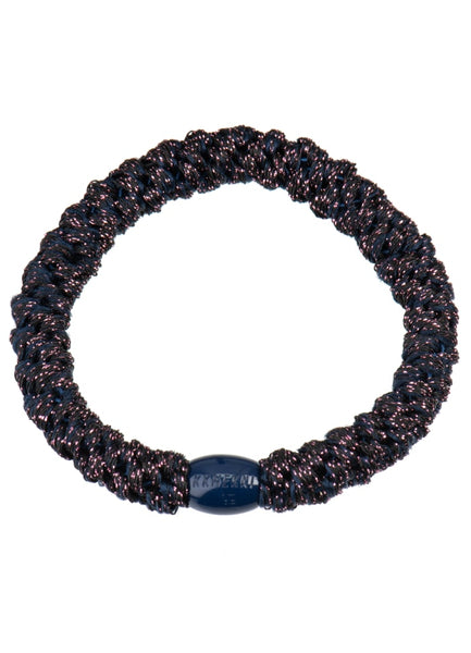 Bon Dep Kknekki Hair Tie - Midnight Plum Glitter
