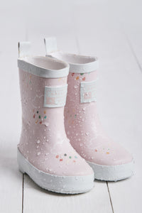 Little Kids Baby Pink Colour-Revealing Wellies